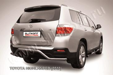 """Защита заднего бампера d57 """"волна"""" для Toyota Highlander (2010 -) Слиткофф THI017"""