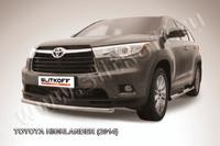 Защита переднего бампера d57 радиусная для Toyota Highlander (2014 -) Слиткофф THI14-005