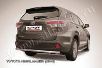 Защита заднего бампера d57 радиусная для Toyota Highlander (2014 -) Слиткофф THI14-013