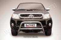 Кенгурятник d57 низкий для Toyota Hilux (2008 -) Слиткофф THL004