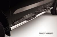 Пороги d76 с проступями для Toyota Hilux (2008 -) Слиткофф THL009