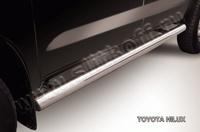 Пороги d76 труба для Toyota Hilux (2008 -) Слиткофф THL010