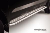 """Пороги d57 с листом (чёрный """"квинтет"""") для Toyota Hilux (2008 -) Слиткофф THL012"""
