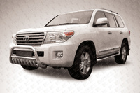 Кенгурятник d76 низкий с ЗК для Toyota Land Cruiser 200 (2013 -) Слиткофф TLC2-13-010