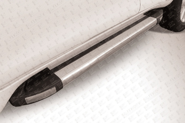 Пороги аллюминиевые для Toyota Land Cruiser Prado 150 (2014 -) Слиткофф TOP14-010