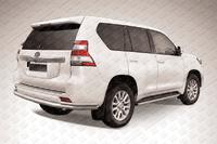 Защита заднего бампера d76/d42 двойная для Toyota Land Cruiser Prado 150 (2014 -) Слиткофф TOP14-011