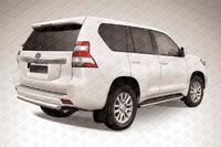 Защита заднего бампера d76 короткая для Toyota Land Cruiser Prado 150 (2014 -) Слиткофф TOP14-012