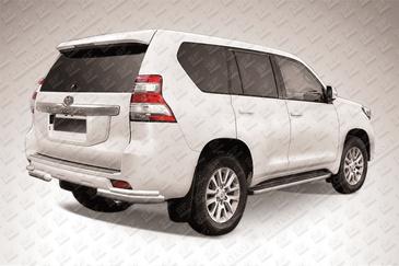 Уголки d76/d42 двойные для Toyota Land Cruiser Prado 150 (2014 -) Слиткофф TOP14-014
