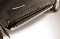 """Пороги d57 с листом (чёрный """"квинтет"""") для Toyota Land Cruiser Prado 150 (2014 -) Слиткофф TOP14-016"""