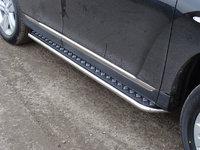 Пороги с площадкой 42,4 мм на Toyota Highlander (2010 -) ТСС TOYHIGHL10-02