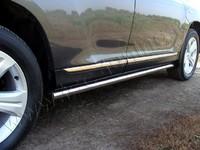 """Пороги """"труба"""" 60,3 мм на Toyota Highlander (2010 -) ТСС TOYHIGHL10-08"""