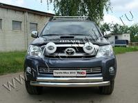 Решётка радиатора 16 мм на Toyota Hilux (2008 -) ТСС TOYHILUX10-04