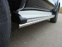Защита порогов 42,4 мм на Toyota Hilux (2011 -) ТСС TOYHILUX12-04