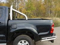 Защита кузова 76,1 мм на Toyota Hilux (2011 -) ТСС TOYHILUX12-09