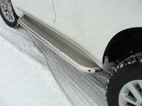 Пороги с площадкой (нерж. лист) 60,3 мм для Toyota Land Cruiser Prado 150 (2013 -) ТСС TOYLC15013-04