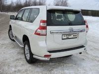 Защита заднего бампера (уголки) 76,1 мм для Toyota Land Cruiser Prado 150 (2013 -) ТСС TOYLC15013-06