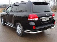 """Защита задняя """"уголки"""" 76,1/42,4мм на Toyota Land Cruiser 200 (2007 -) ТСС TOYLC200-04"""