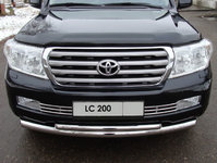 Решётка радиатора 16 мм на Toyota Land Cruiser 200 (2007 -) ТСС TOYLC200-05
