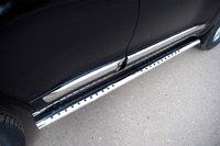 Пороги овальные с проступью 120х60 мм на Toyota Land Cruiser 200 (2007 -) ТСС TOYLC200-06