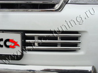 Решётка радиатора 16 мм на Toyota Land Cruiser 200 (2012 -) ТСС TOYLC20012-05