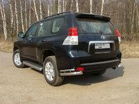 """Защита задняя """"уголки"""" 76,1х42,4 мм на Toyota LC Prado 150 (2009 -) ТСС TOYLCPR150-04"""
