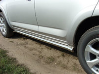 """Пороги """"труба"""" 60,3 мм на Toyota RAV4 Long (2010 -) ТСС TOYRAVLONG10-03"""
