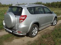"Защита задняя ""уголки"" 76,1 мм на Toyota RAV4 Long (2010 -) ТСС TOYRAVLONG10-04"