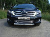 """Решетка радиатора """"трубки"""" 12 мм на Toyota Venza (2013 -) ТСС TOYVEN13-09"""