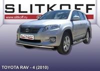 Защита переднего бампера d57 для Toyota RAV4 (2010 -) Слиткофф TR410-007