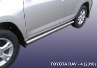 Пороги d57 труба для Toyota RAV4 (2010 -) Слиткофф TR410-011