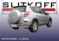 Уголки d57+d42 двойные для Toyota RAV4 (2010 -) Слиткофф TR410-014
