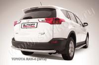 Защита заднего бампера d57 радиусная для Toyota RAV4 (2013 -) Слиткофф TR413-012