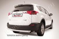 Защита заднего бампера d76 радиусная для Toyota RAV4 (2013 -) Слиткофф TR413-013