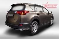 Защита задняя уголки d42 для Toyota RAV4 (2013 -) СОЮЗ-96 TRAV.76.1711 (Эксклюзив TMR)