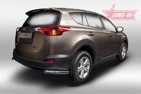 Защита задняя уголки d60 для Toyota RAV4 (2013 -) СОЮЗ-96 TRAV.76.1712 (Эксклюзив TMR)