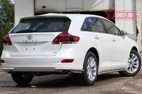 Защита задняя уголки d42 для Toyota Venza (2013 -) СОЮЗ-96 TVEN.76.1856 (Эксклюзив TMR)