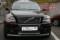 Защита переднего бампера d 76/60 двойная для Volvo XC90 (2007 -) СОЮЗ-96 VOXC.48.0538