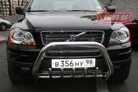 Решётка передняя мини d76 с защитой картера для Volvo XC90 (2007 -) СОЮЗ-96 VOXC.57.0539