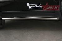 Защита штатных порогов d60 для Volvo XC90 (2007 -) СОЮЗ-96 VOXC.86.0543