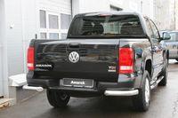 """Защита заднего бампера """"уголки"""" d76 на Volkswagen Amarok (2010 -) СОЮЗ-96 VWAM.76.1241"""