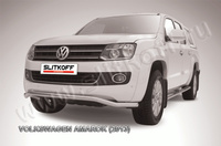 """Защита переднего бампера d57 """"волна"""" для Volkswagen Amarok (2010 -) Слиткофф VWAM13-007"""