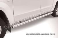 Пороги d76 труба для Volkswagen Amarok (2010 -) Слиткофф VWAM13-009