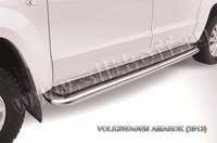 Пороги d57 с листом для Volkswagen Amarok (2010 -) Слиткофф VWAM13-010