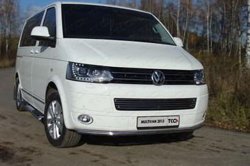 Защита передняя нижняя 42,4 мм для Volkswagen Multivan (2013 -) ТСС VWMULT13-01