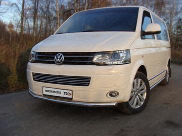 Защита передняя нижняя 60,3 мм для Volkswagen Multivan (2013 -) ТСС VWMULT13-02