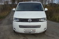Решетка радиатора 12 мм для Volkswagen Multivan (2013 -) ТСС VWMULT13-04