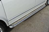 Пороги с площадкой 60,3 мм для Volkswagen Multivan (2013 -) ТСС VWMULT13-08