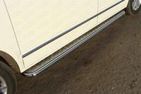 Пороги с площадкой 42,4 мм для Volkswagen Multivan (2013 -) ТСС VWMULT13-10