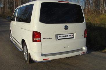Защита задняя (уголки) 42,4 мм для Volkswagen Multivan (2013 -) ТСС VWMULT13-14