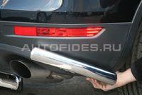 """Защита заднего бампера """"уголки"""" d60 на Volkswagen Touareg (2010 -) СОЮЗ-96 VWTG.76.1194"""